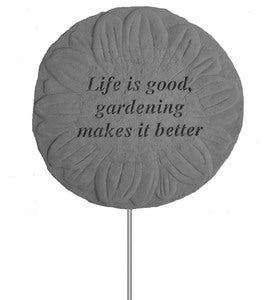 Life is Good Flower Garden Stake