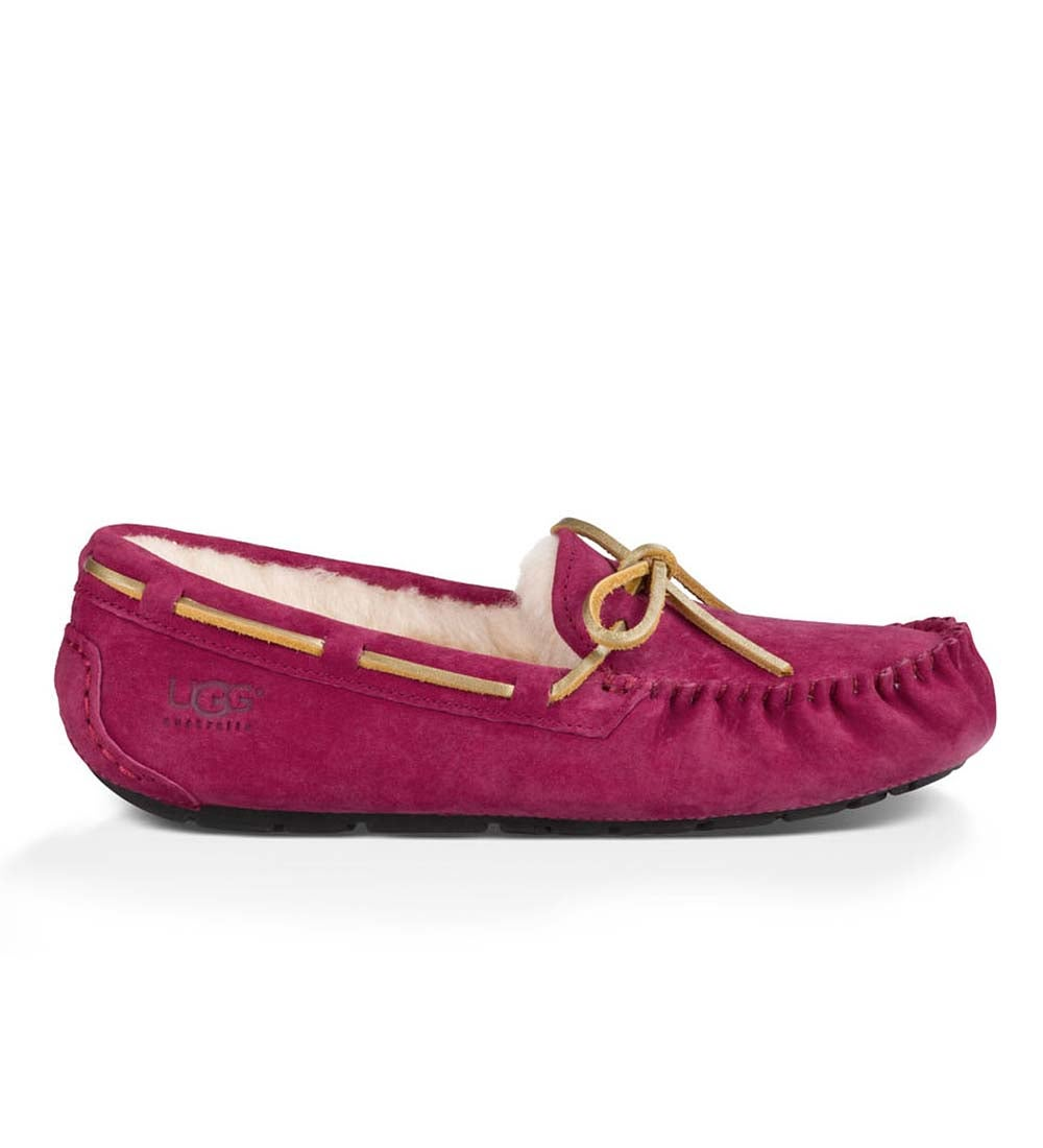 UGG Australia Womens Dakota Moccasin Slippers - Red Violet - Size 10