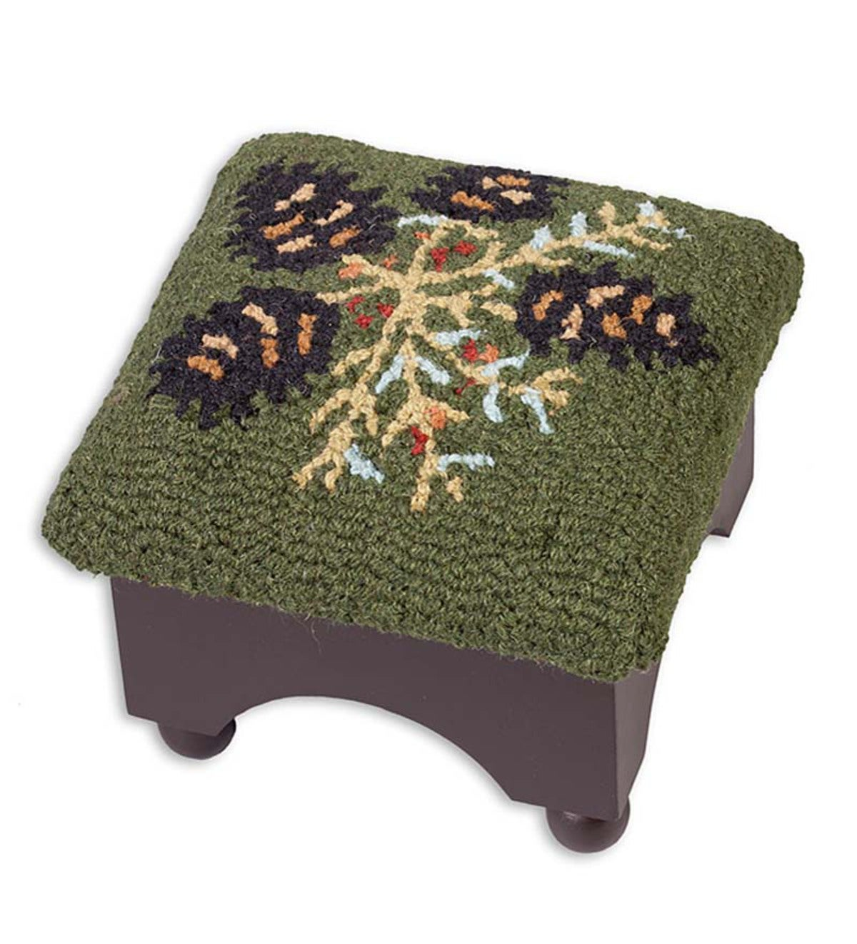"Pine Cone Footstool, 9""H"
