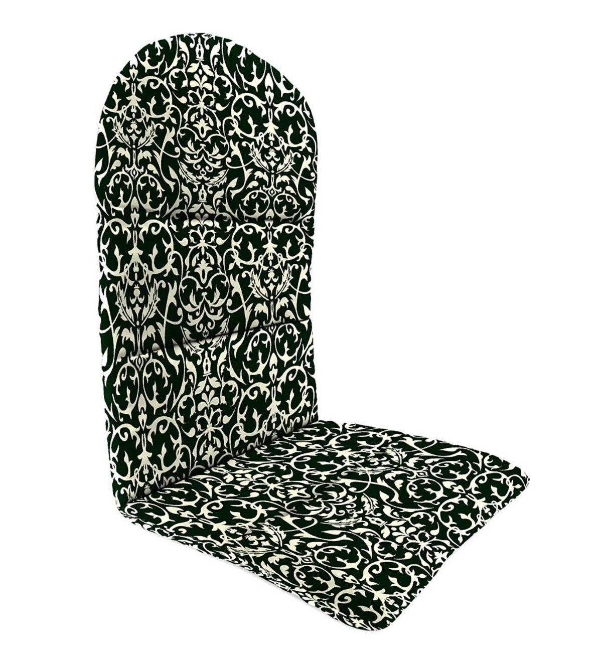 "Sale! Polyester Classic Adirondack Cushion, 49""x 20½""x 2½""with hinge 18""from bottom - Pine Filigree"