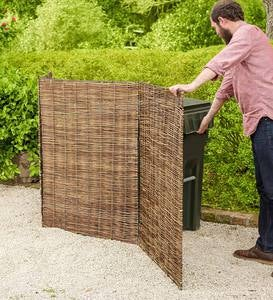 Willow Tri-Panel Trash Can Cover
