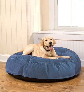 "35""Round Tufted Plush Velvet Pet Bed"