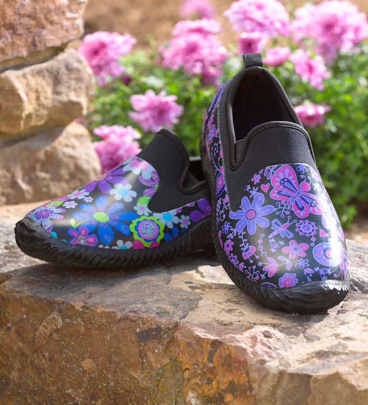 Waterproof Slip-On Floral Garden Shoes