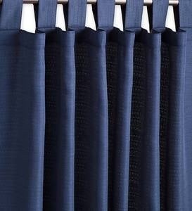 "Grasscloth Outdoor Curtain Panel with Tab Top, 54""W x 108""L"