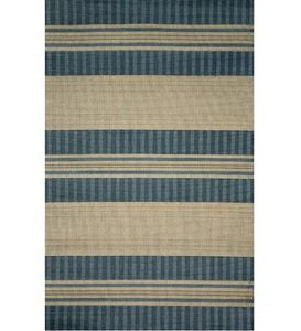 "4'11""x 7'6""Tropez Stripes Indoor/Outdoor Rug - Green"