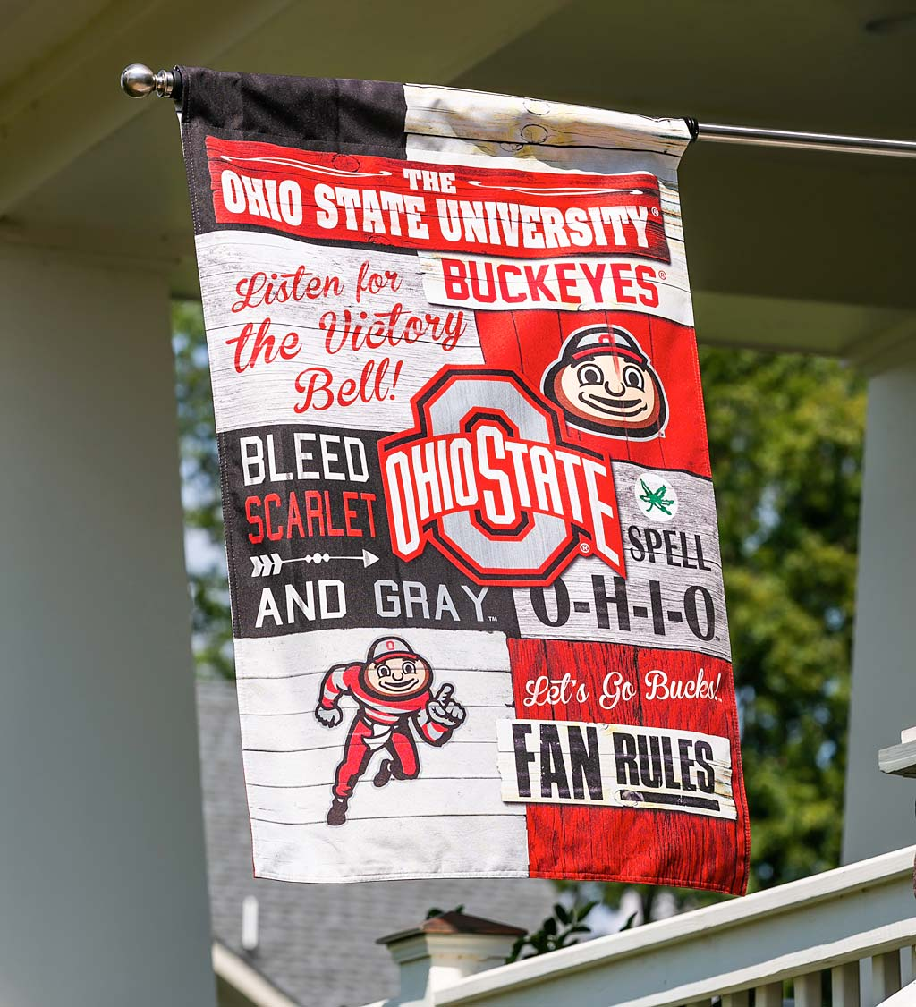 Double-Sided Fan Rules College Team Pride Linen House Flag