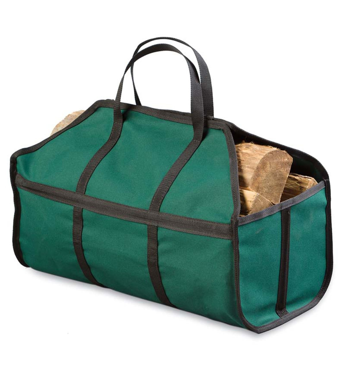 Canvas Log Carrier, Green