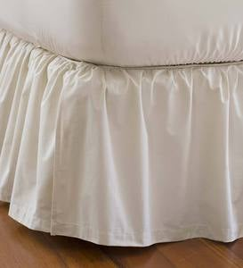 "Queen Gathered Detachable Bed Skirt, 14""Drop"