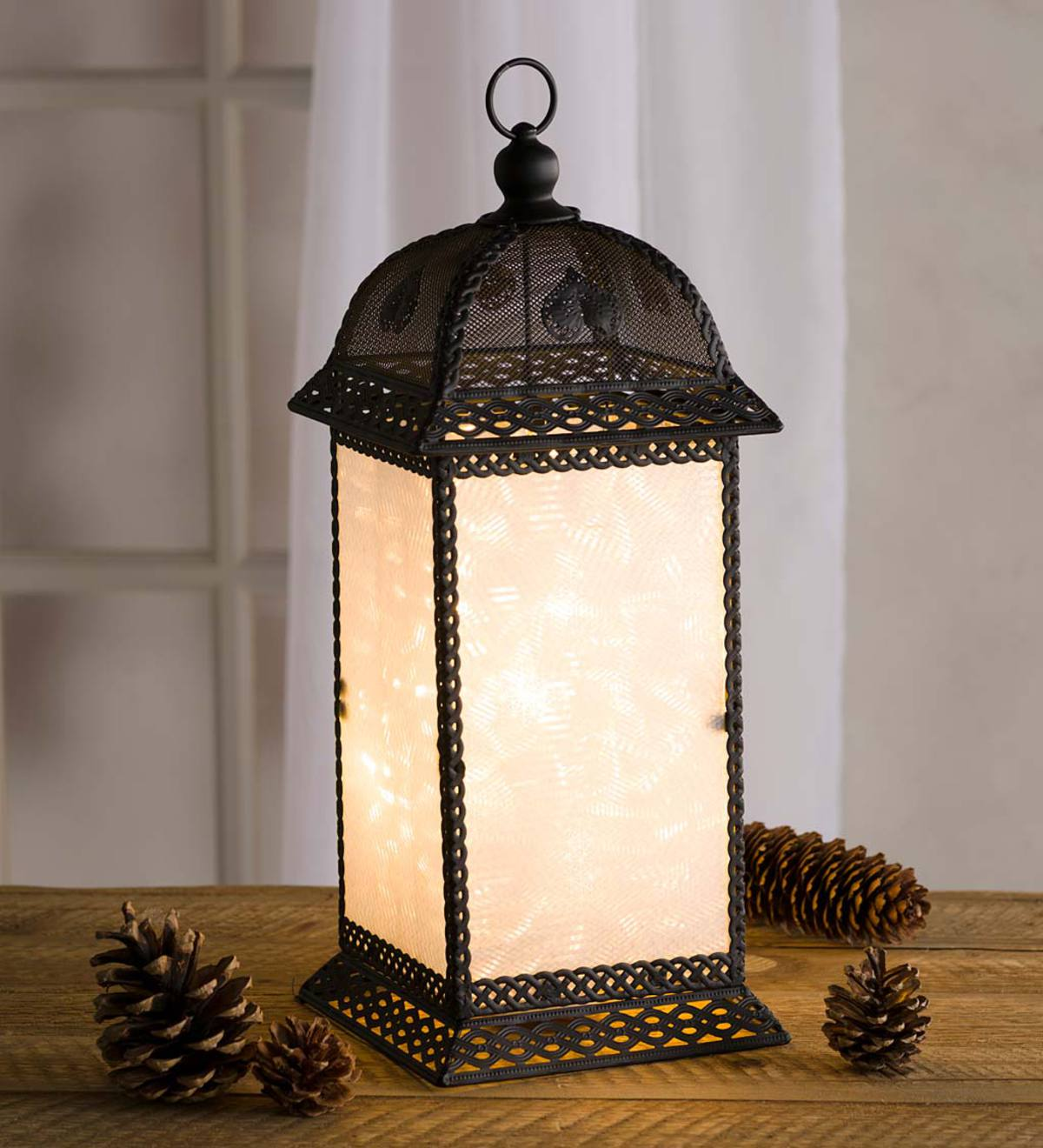 Color Changing Twirling Starlight Lantern, Medium