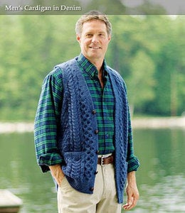 Men's Irish Wool Cardigan