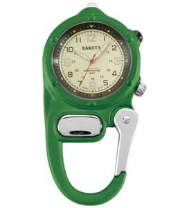 Water-Resistant Hanging Clip-On Watch with Luminescent Hands - Lime