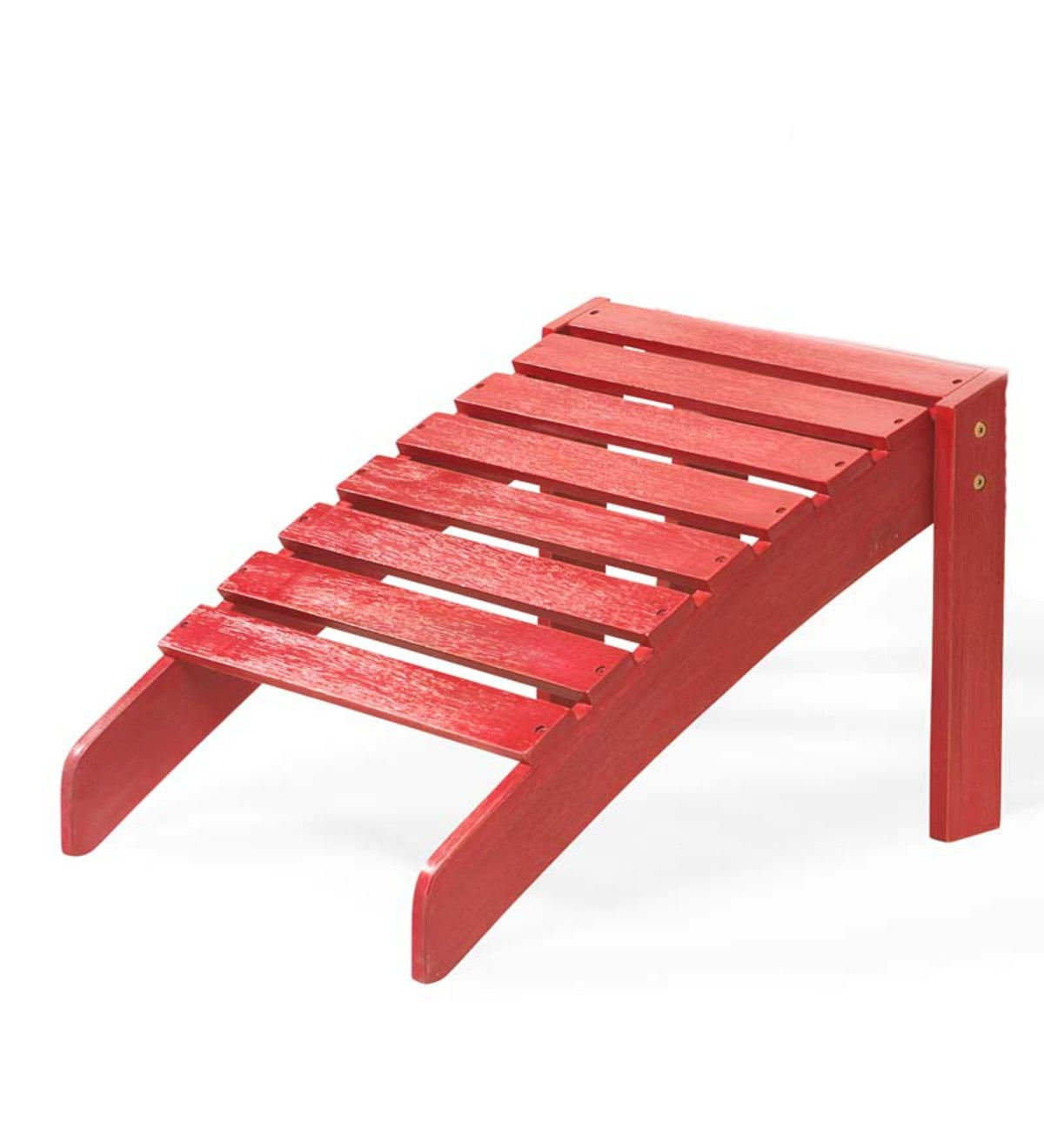 Classic Adirondack Footrest - Red Painted