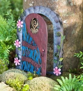Miniature Fairy Garden Flower Swirl Door