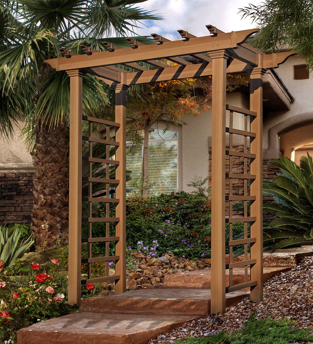 Carolina Faux Wood Maintenance-Free Arbor