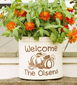 Pumpkin Patch Personalized Crock with Name