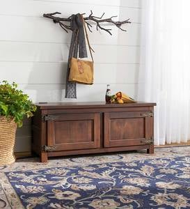 Portland Ice Box Wood Coffee Table/Bench with Replica Hardware