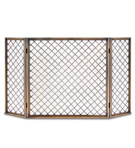 Hartwick Tri-Panel Folding Fireplace Screen