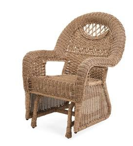 Prospect Hill Wicker Love Seat Glider - Cloud White