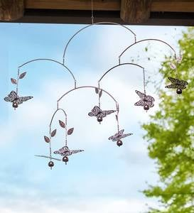 Metal Butterfly Mobile Wind Chime
