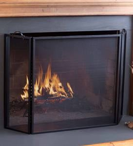 Classic Tri-Fold Flat-Guard Fire Screen