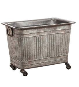 Galvanized Tub With Wheels