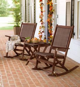 Claytor Folding Eucalyptus Outdoor Furniture