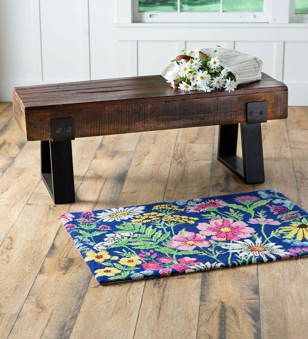 Flower Garden Hooked Wool Accent Rug