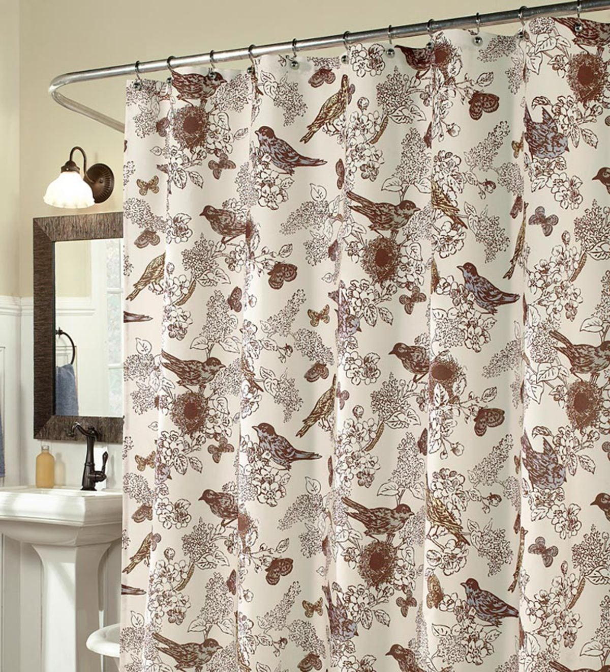 Birds Of Paradise Duck Weave Shower Curtain