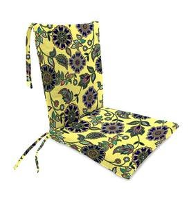 "Sale! Polyester Classic Rocking Chair Cushions With Ties, Seat 21""front/17""back x 19""x 2½""; Back 16""x 20""x 2½"""