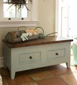 Wood 2-Drawer Florence Blanket Chest