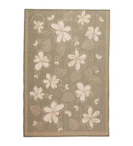 "Whimsy Floral Indoor/Outdoor Polypropylene Rug, 7'10""sq."
