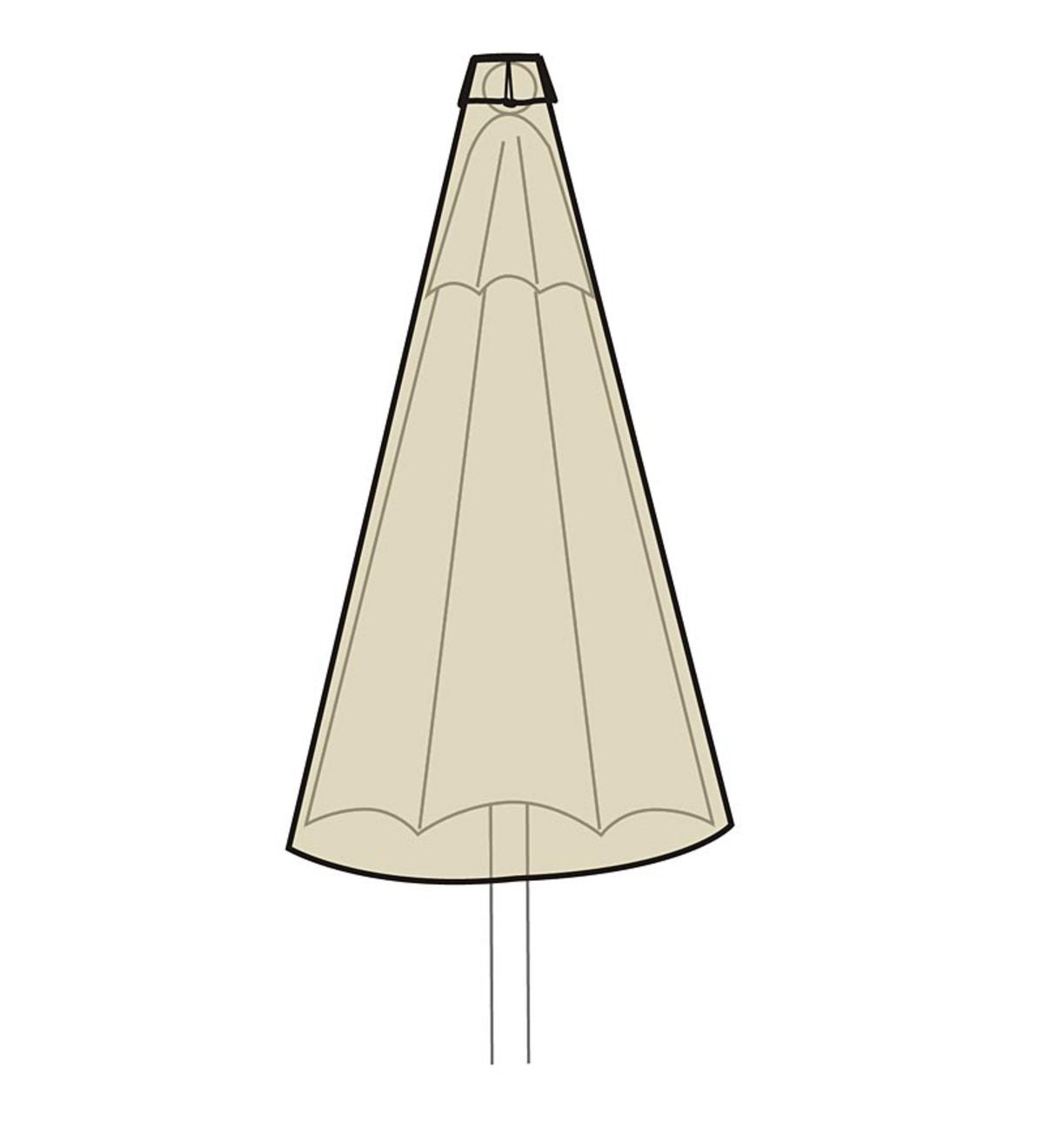 Deluxe Umbrella Cover - Tan