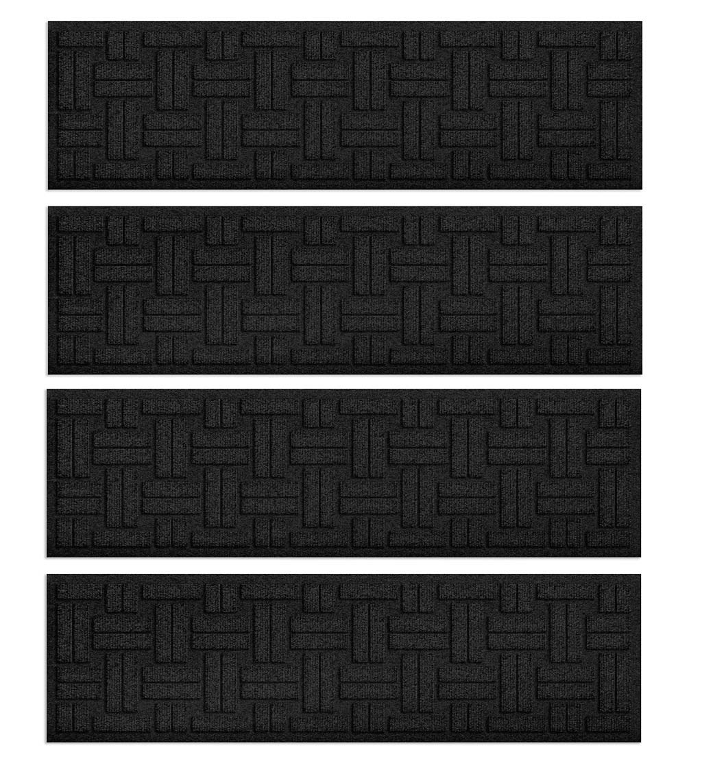 Waterhog Basket Weave Stair Tread Mats, Set of 4