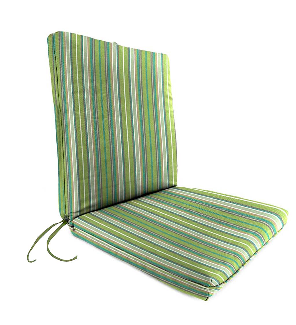 "Sunbrella Classic Chair Cushion With Ties, Seat 19""x 17""x 2½""; Back 19""x 19""x 2½"" swatch image"