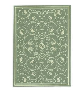 "Veranda Scroll Indoor/Outdoor Rug, 3'9""x 5'5"" - Cocoa"