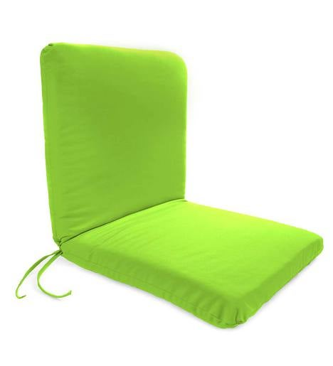 "Polyester Classic Chair Cushion With Ties, Seat 19""x 17""x 2½""; Back 19""x 19""x 2½"""