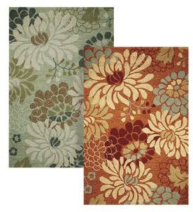 Floral Silhouette Indoor/Outdoor Area Rug