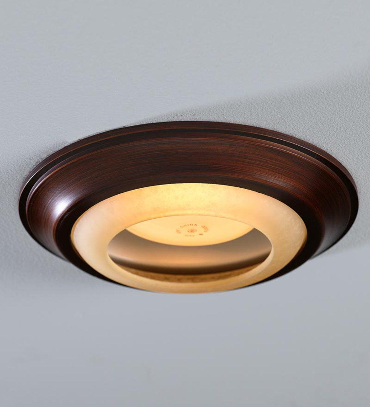 Simple Trim Recessed Light Cap Ring Bronze Plowhearth