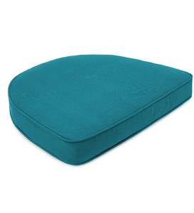 "Sunbrella Deluxe Chair Cushion With Rounded Back, 18"" x 17¾"" x 3"""