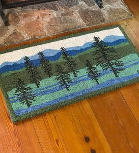 Handmade Hooked Wool Blue Ridge Mountain Rug