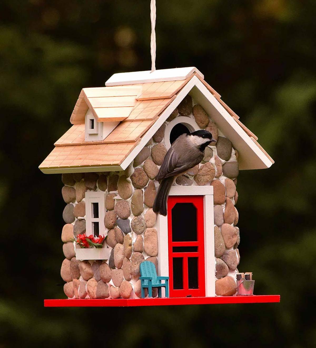Stone Cottage Birdhouse Birdhouses Plowhearth