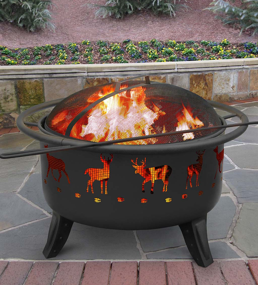 Deer Tracks Wood-Burning Fire Pit
