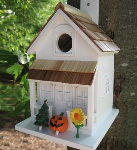 Little Season's Tweetings Birdhouse With Seasonal Decorations