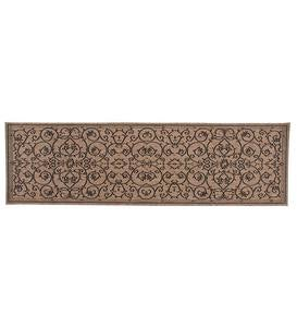 "Veranda Scroll Indoor/Outdoor Runner, 2'3""x 7'10"" - Black"