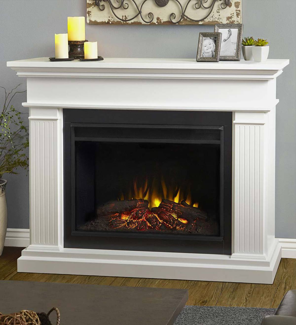 Kennedy Vent Free Electric Fireplace Espresso Plowhearth