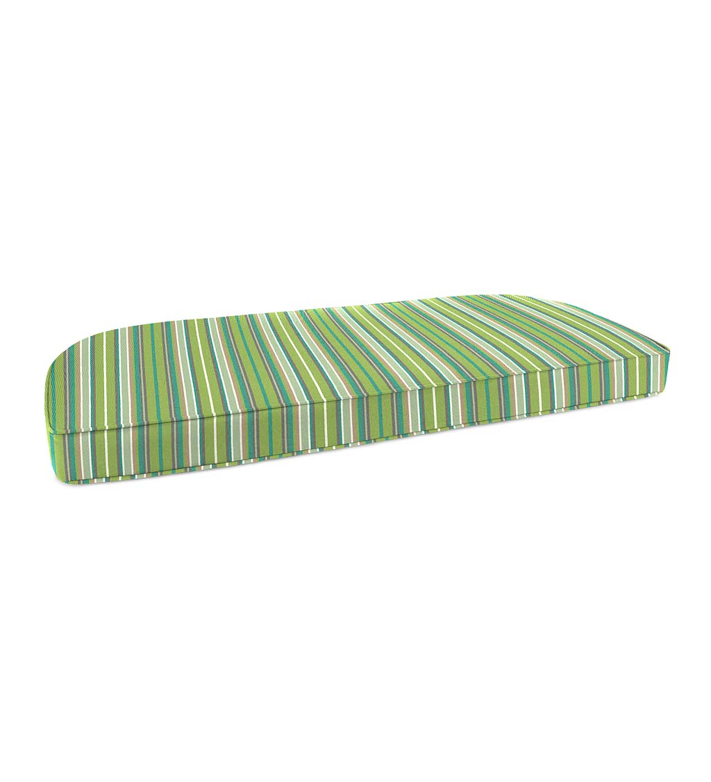 "Deluxe Sunbrella Rounded Swing/Bench Cushion 41¾"" x 18¾"" x 3"" swatch image"