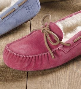 UGG Australia Womens Dakota Moccasin Slippers - Rose - Size 9