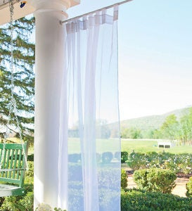 Outdoor Velcro® Curtains Tab Sheer Panel