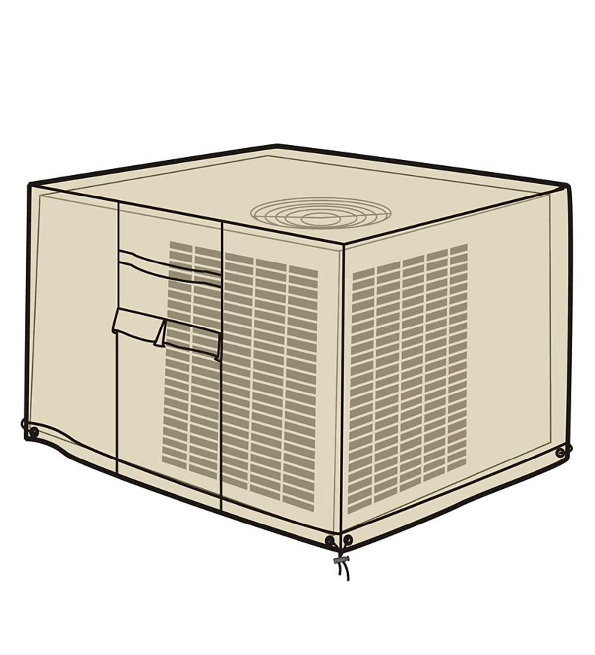 Deluxe Square AC Unit Cover