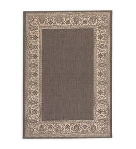 "Veranda Border Indoor/Outdoor Rug, 3'9""x 5'5"""